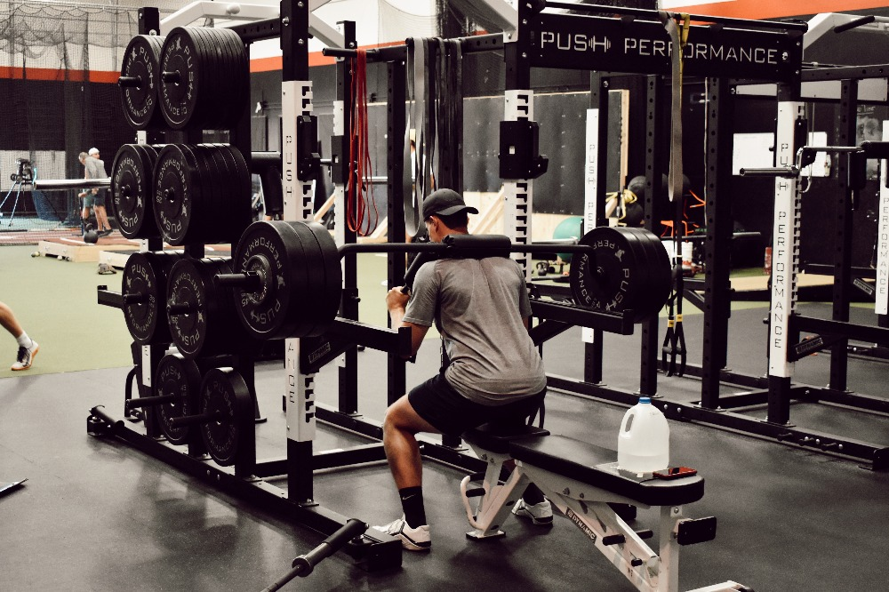 Push Performance athlete training in-gym.