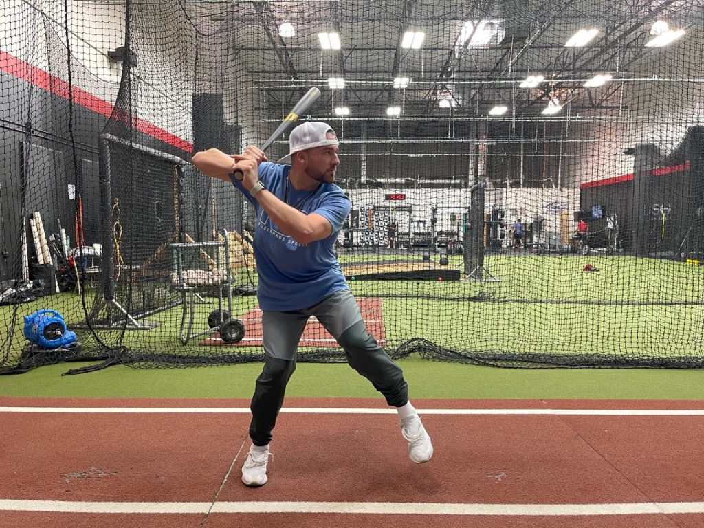 Another example showing how to gain power in your swing for baseball.