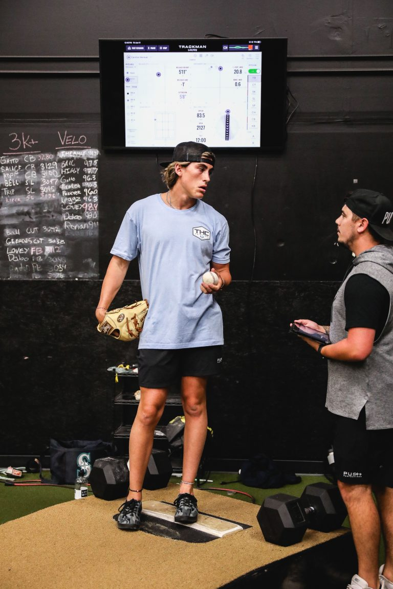Our athletes utilize Trackman to track their data and find various ways to improve their throwing.